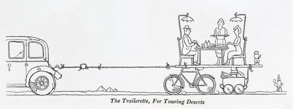 The Trailerette, for touring deserts. Please note: Credit must appear as (c) Courtesy of the estate of Mrs J.C.Robinson/Pollinger Ltd/Mary Evans Picture Library