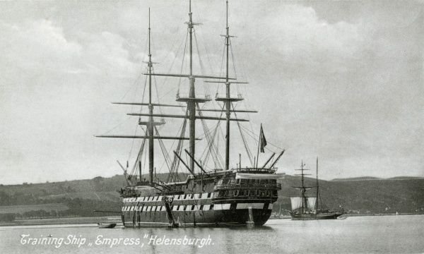 The Training Ship Empress, operated at Helensburgh (Dunbartonshire, Scotland) on the Clyde, by the Clyde Industrial Training Ship Association