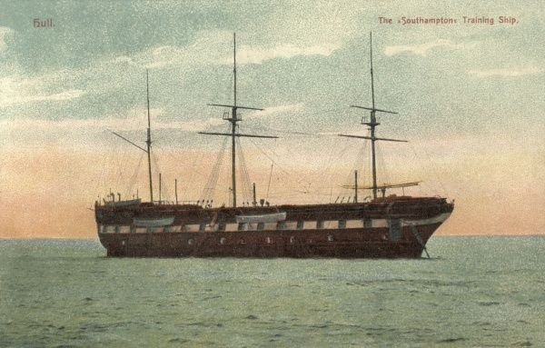 The Southampton Industrial Training Ship was established on the Humber, at Hull, in 1868. Boys aged 11-15, placed there by magistrates, were trained in seamanship, with many going on to join the naval services