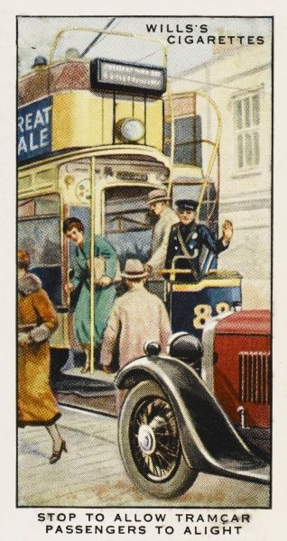 'Stop to allow tramcar passengers to alight.&#39