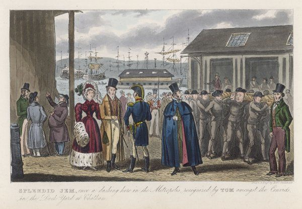 Prisoners awaiting transportation from Chatham Dockyard