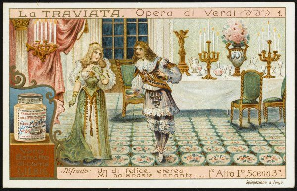 Act one, scene three : Alfredo and Violetta meet