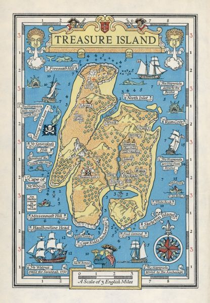 A map of Treasure Island