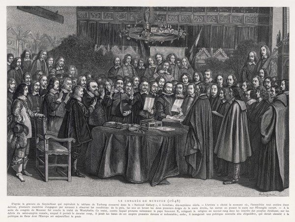 The Congress of Munster concludes the Treaty of Westphalia