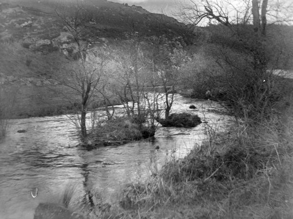 View of Treffgarne Gorge and River Cleddau at Nant Y Coy, Pembrokeshire, Dyfed, South Wales, before the Great Western Railway line was built