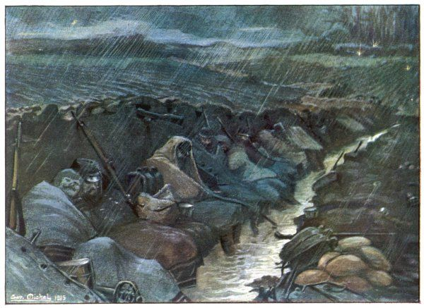 Ankle-deep in water which is added to by the pouring rain, huddled under wet capes in a muddy trench shared with rats - who needs an enemy to make trench life miserable ?