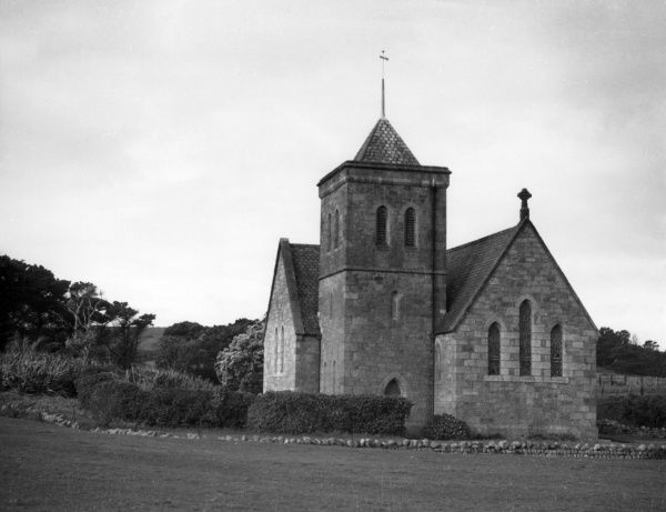 The Parish Church, Tresco, Isles of Scilly. Date: 1930s photo