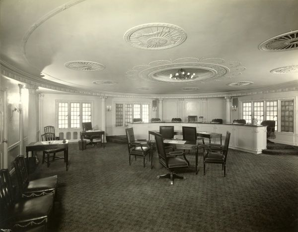 The Association of the Bar of the City of New York, Trial Room. Empty trial room at the Association of the Bar of the City of New York, 42 West 44th Street