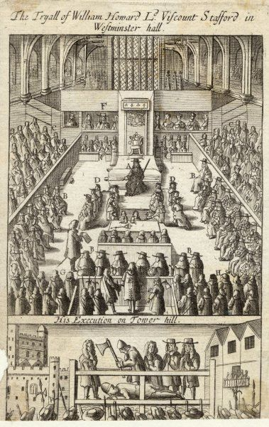 The trial of the Earl of Strafford at Westminster Hall