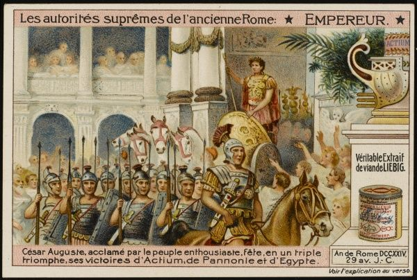 The triumph of Augustus Caesar, after his victories in Egypt