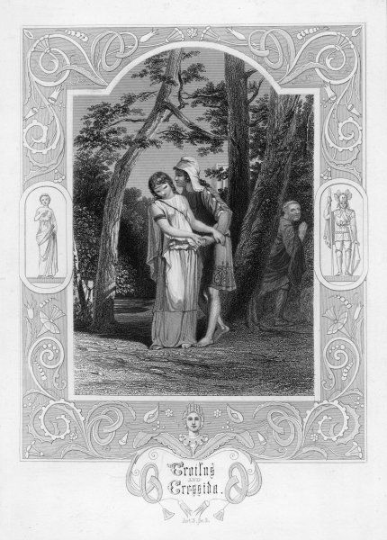 Act III, Scene II Pandarus allows a meeting between his niece, Cressida and Troilus, son of King Priam, in his orchard