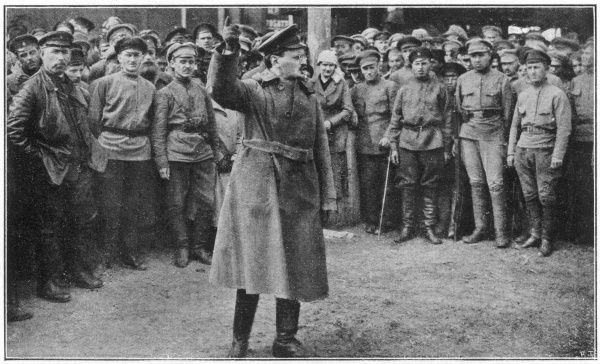 LEON TROTSKY Russian statesman, haranguing soldiers in 1920