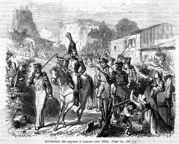 At La Mure, near Grenoble, peasants resist the restored Bourbon regime, but their insurrection is quickly suppressed and the leaders arrested