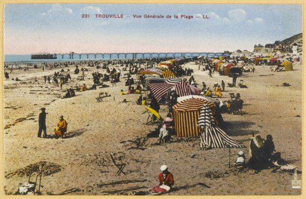 Trouville, Normandy: view of the beach