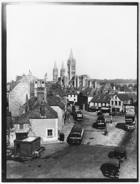 The Cathedral from the Square, Truro, Cornwall