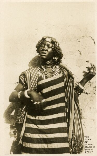 Tuareg Woman - from a desert oasis in southern Algeria. Date: circa 1910s