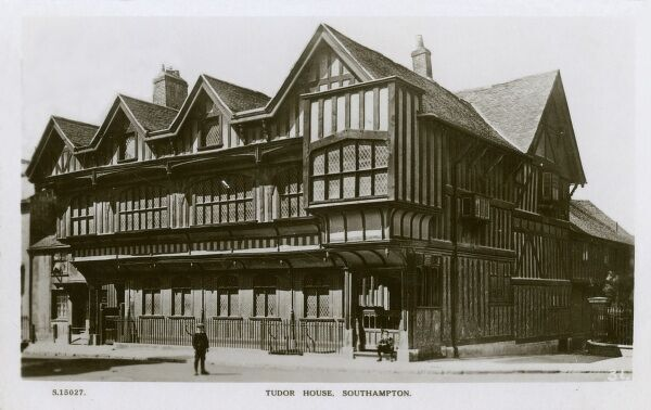 Tudor House - Southampton. A distinctive, timbered building that dominates St Michael's Square. Built in about 1492, but originally consisted of three dwellings dating back to c 1150&quot