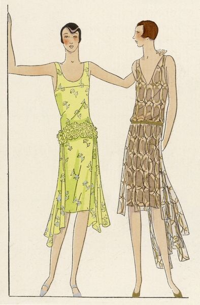 Two pretty dresses made of the tulle supplied by Racine of Paris