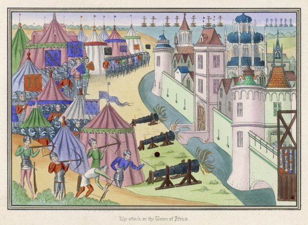 European knights mount an unsuccessful siege on a city near Tunis, Africa. Defeated, they soon return home