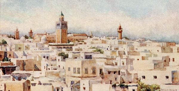 Tunis: general view of the city