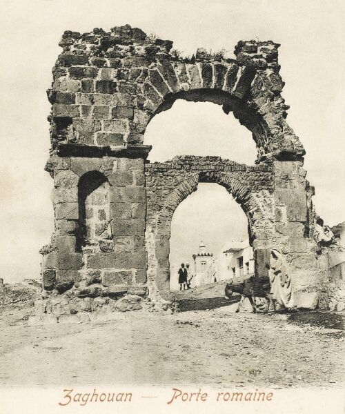 Roman Gate at Zaghouan, Northern Tunisia