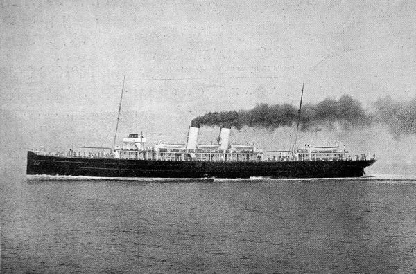 Photograph of the South Eastern and Chatham Railway Company's turbine steamer 'Queen', during sea trials, June 1903. This vessel was announced to be the first turbine steamer to enter cross-Channel service