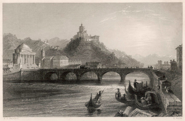 The bridge over the river Po, running through Turin (Torino)