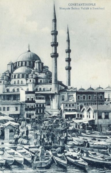 The Yeni Cami ('New Mosque of the Valide Sultan') at Constantinople, Turkey