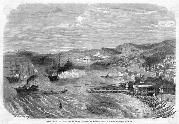 (aka Izmid, Kocaeli, Astacus or Nicomedia) harbour 87 km southeast of Istanbul. The engraving shows a visit by the Sultan