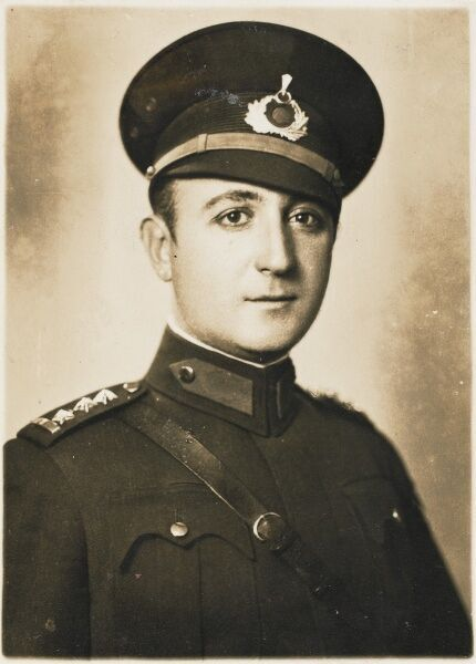 Turkish Army Officer - Bezmi Bey - Adana, Turkey. Sent as a 'Bayram card' (religious festival in Turkey) to his family in Isanbul from the Far East of Turkey - 28th January, 1939