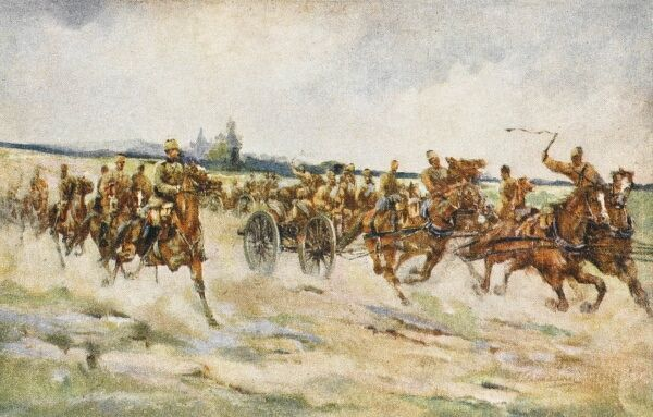 Turkish Artillery on the move - possibly during manoeuvres