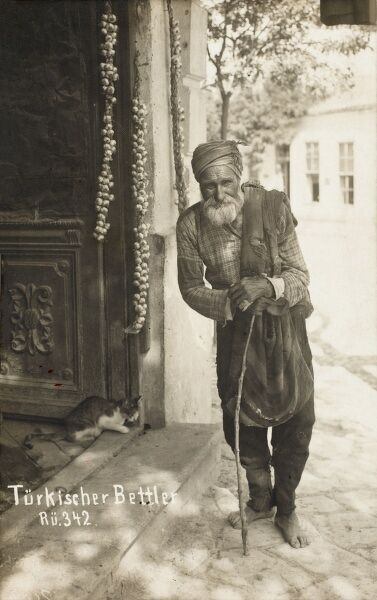 Turkish Beggar in the Albanian / Macedonian region of the Ottoman Empire