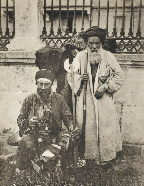 Two Turkish Dervishes in Constantinople of the Bektasi Order. Dervish or Darvesh in Persian usually refers to a person who is a 'seeker of the truth' i.e. ' universal truth'. Within the Islamic tradition such people are often known as Sufis