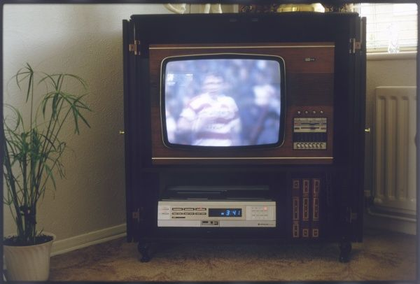 A colour television and video set