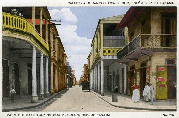 Twelvth Street, looking South, Colon, Republic of Panama