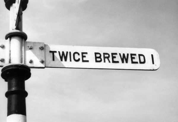 The curiously named hamlet of 'Twice Brewed', situated near Hadrian's Wall, Northumbria, England. Date: 1950s