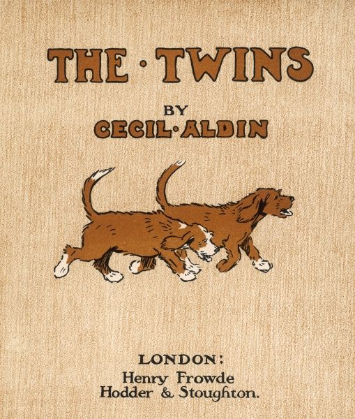 The twin dogs of the title, looking alert and ready for the events about to take place in the book