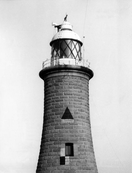 The lighthouse at the end of Tynemouth Pier, Northumberland, England. Date: 19th century