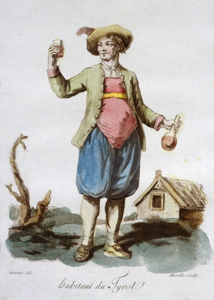 Tyrolese Man in traditional dress Date: 1784