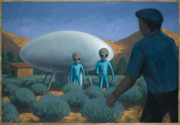 Working early in the morning in his Lavender field, Maurice Masse, comes across an alien craft and it's occupants