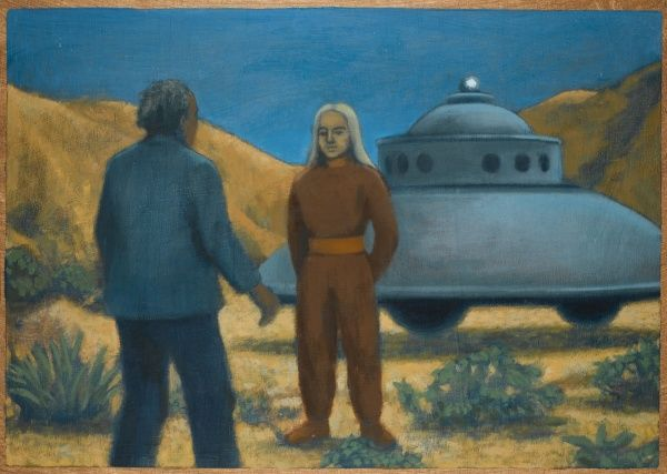 He meets Orthon, a Venusian, at Desert Center, California ; the encounter is allegedly witnessed from a distance by his friends