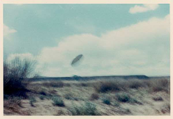 Out of focus it may be, but the three occupants of this UFO were able to converse with Villa at Albuquerque, New Mexico