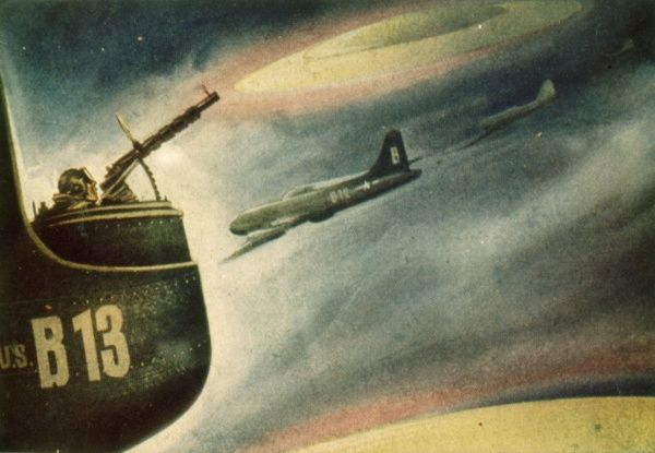 During the Korean War, crew of United States Air Force B-29 bomber report UFO over Wonsan