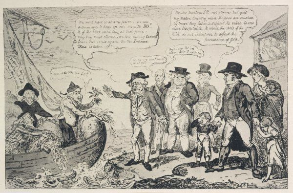 Satirical view of the campaign for imposition of duty on imported corn