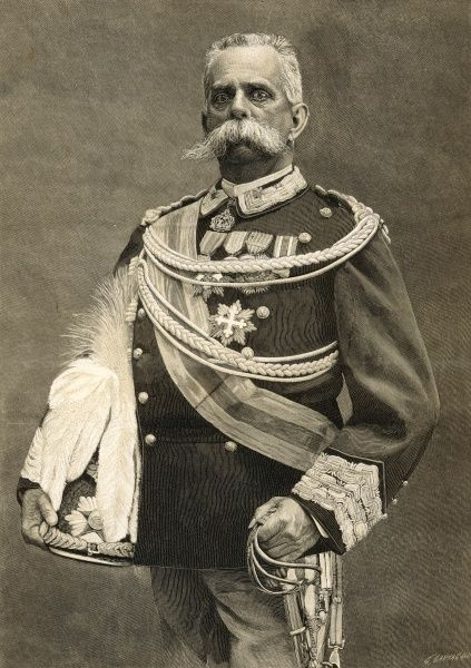 UMBERTO I King of Italy from 1878, pictured here in 1893