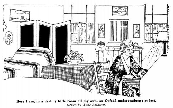 'Here I am, in a darling little room all my own, an Oxford undergraduette at last.' - a possible illustration for Woolf's 'A room of one's own' ?