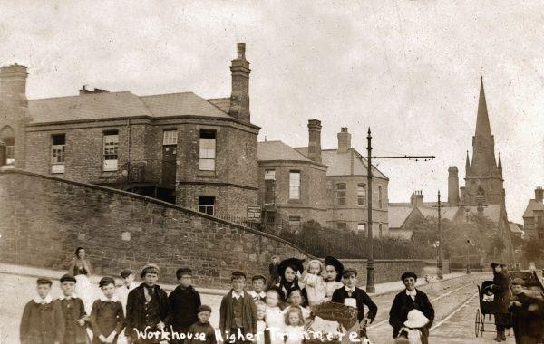 Birkenhead Union workhouse viewed from Church Road, Higher Tranmere, Birkenhead, Cheshire