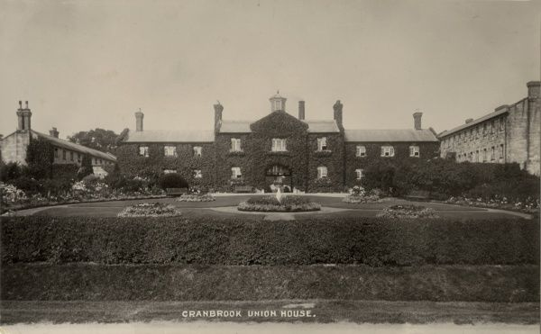 The Cranbrook Union workhouse, erected in 1838 at Hartley, Kent. The architect was John Whichcord