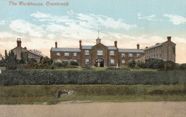 The Cranbrook Union workhouse, erected in 1838 at Hartley. The architect was John Whichcord