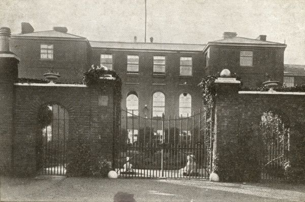 Entrance to the Docking Union workhouse, Norfolk. The building, designed by John Brown, was opened in 1836 at a site on Heacham Road to the west of Docking